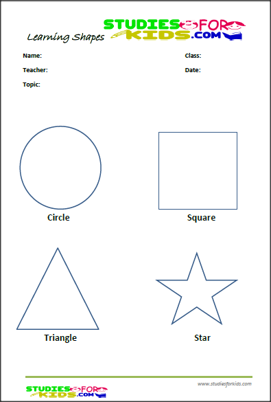 Non Color Shapes Activities For Preschoolers Printable Worksheet