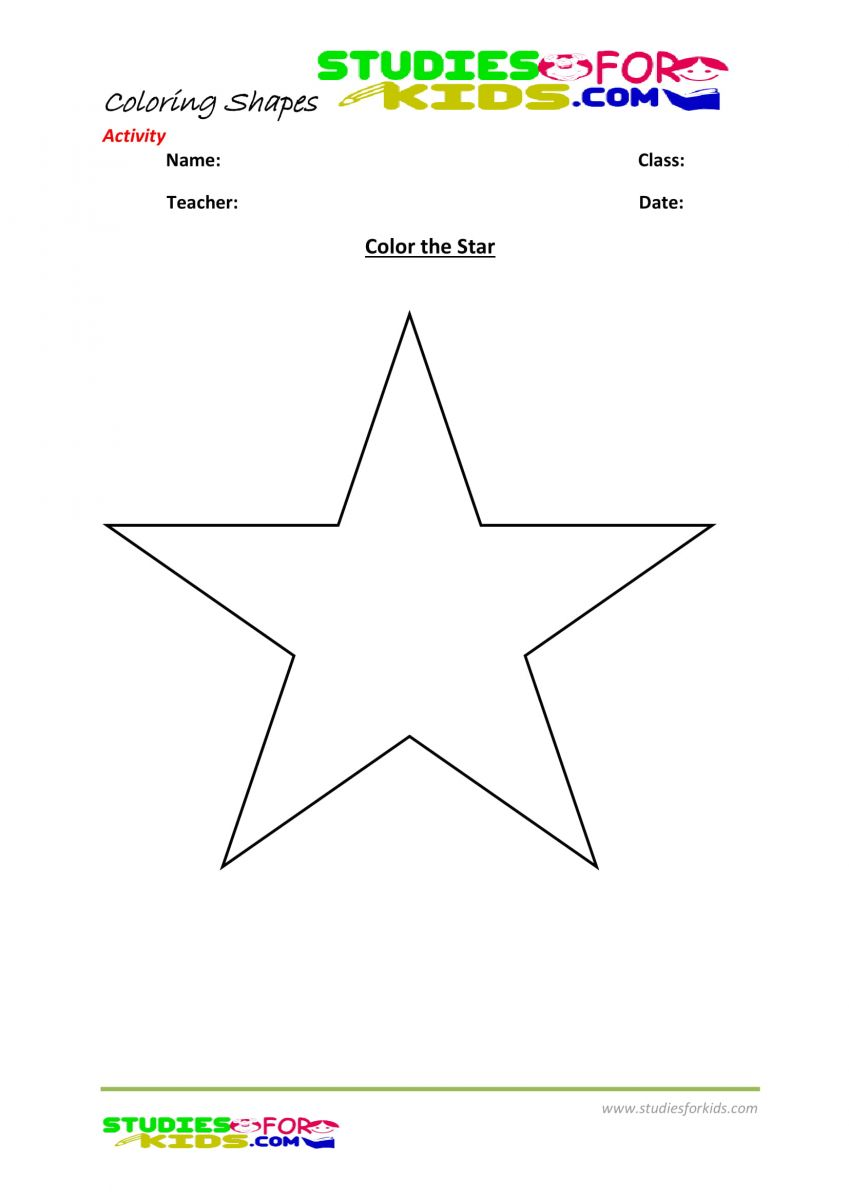 Coloring pages pdf-Color the star