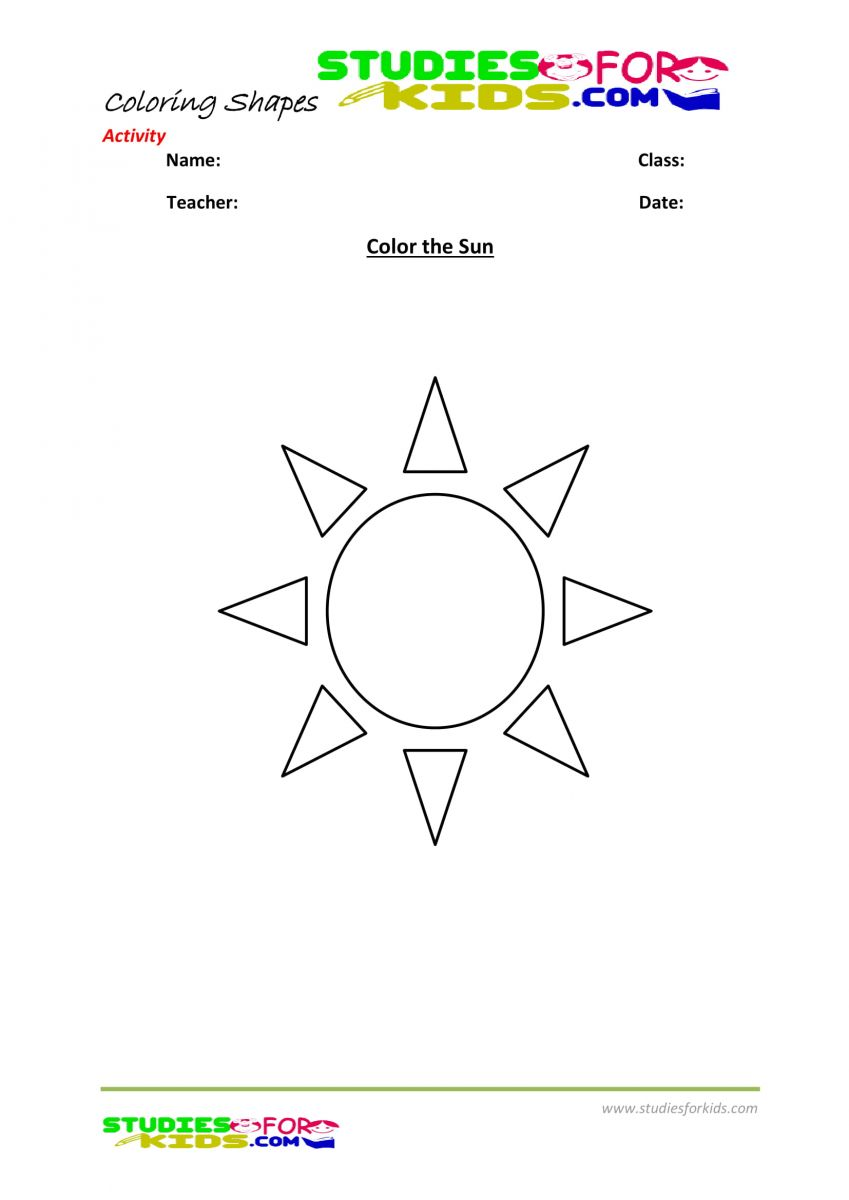 Coloring pages pdf-Color the Sun