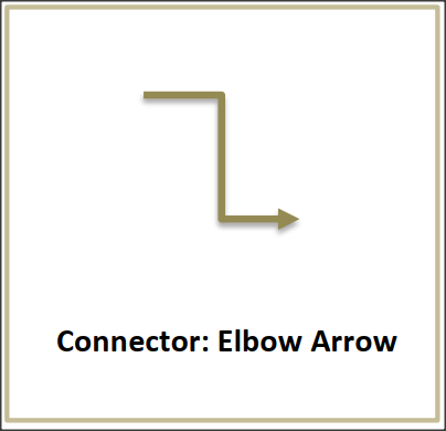 Line Connector Elbow Arrow Flash card