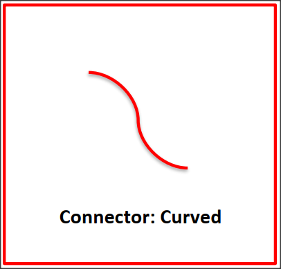 line connector curved flash card