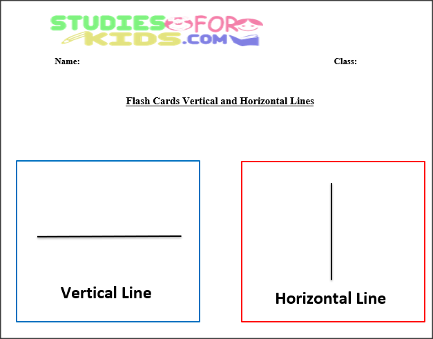 line flash cards vertical and horizontal