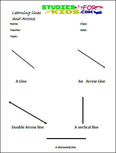 Drawing Lines Maths : Illustrator arrow drawing lines printable worksheets for