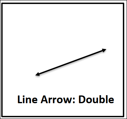 Line Double arrow flashcard
