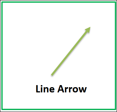 line arrow flashcard