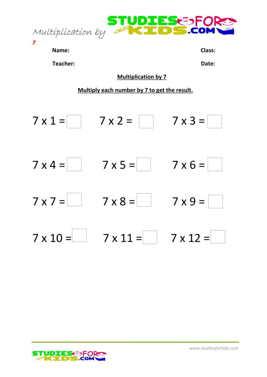 multiplication by 7