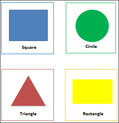 SHAPES FLASH CARDS with Colors-Square, Circle, Triangle, Rectangle for kindergarten
