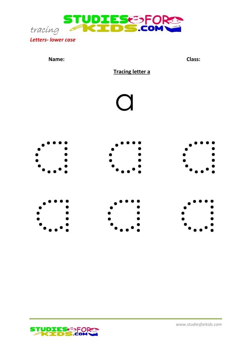 Tracing letters worksheets free Letter a .pdf