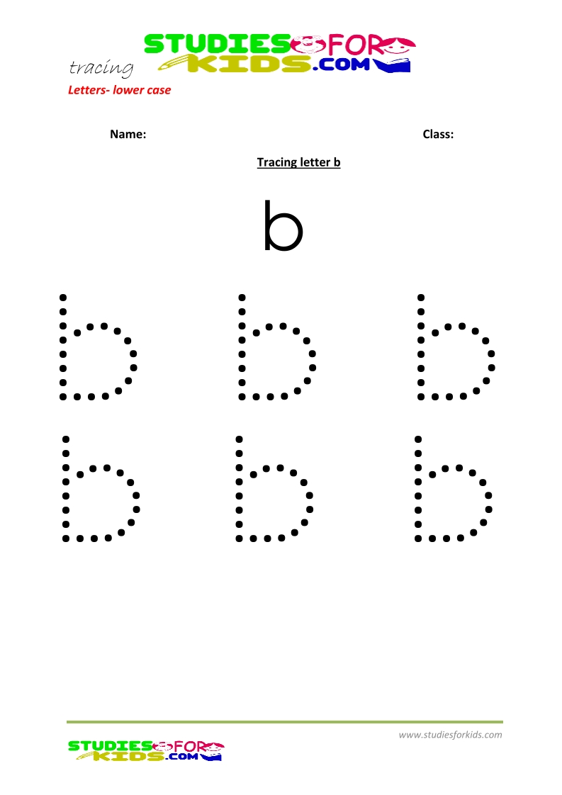 Tracing letters worksheets free Letter b .pdf