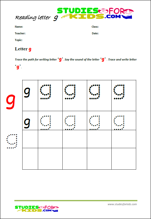 alphabet writing worksheets letter G