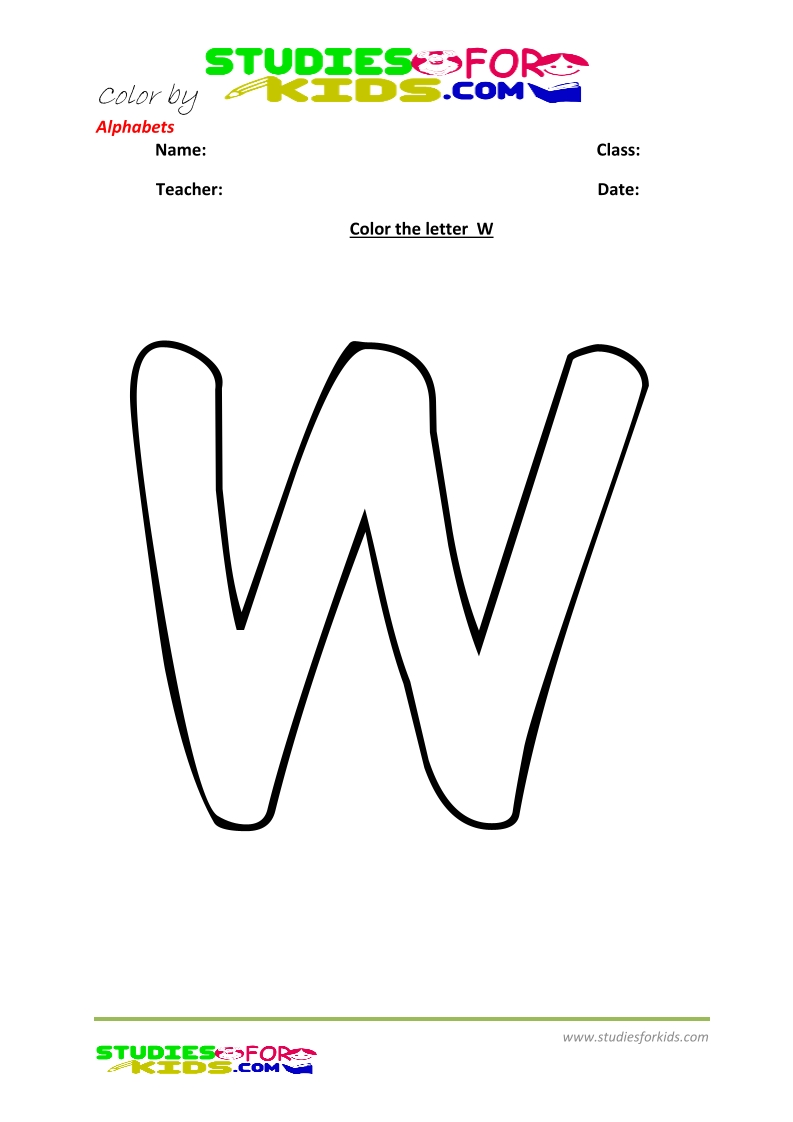 alphabet coloring pages preschool worksheets -letter w