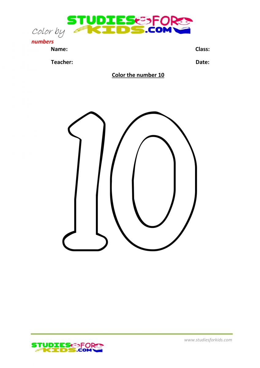 worksheet color by number printables-10