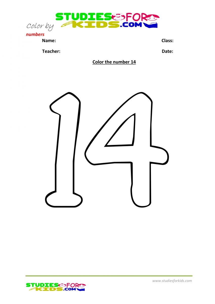 worksheet color by number -14