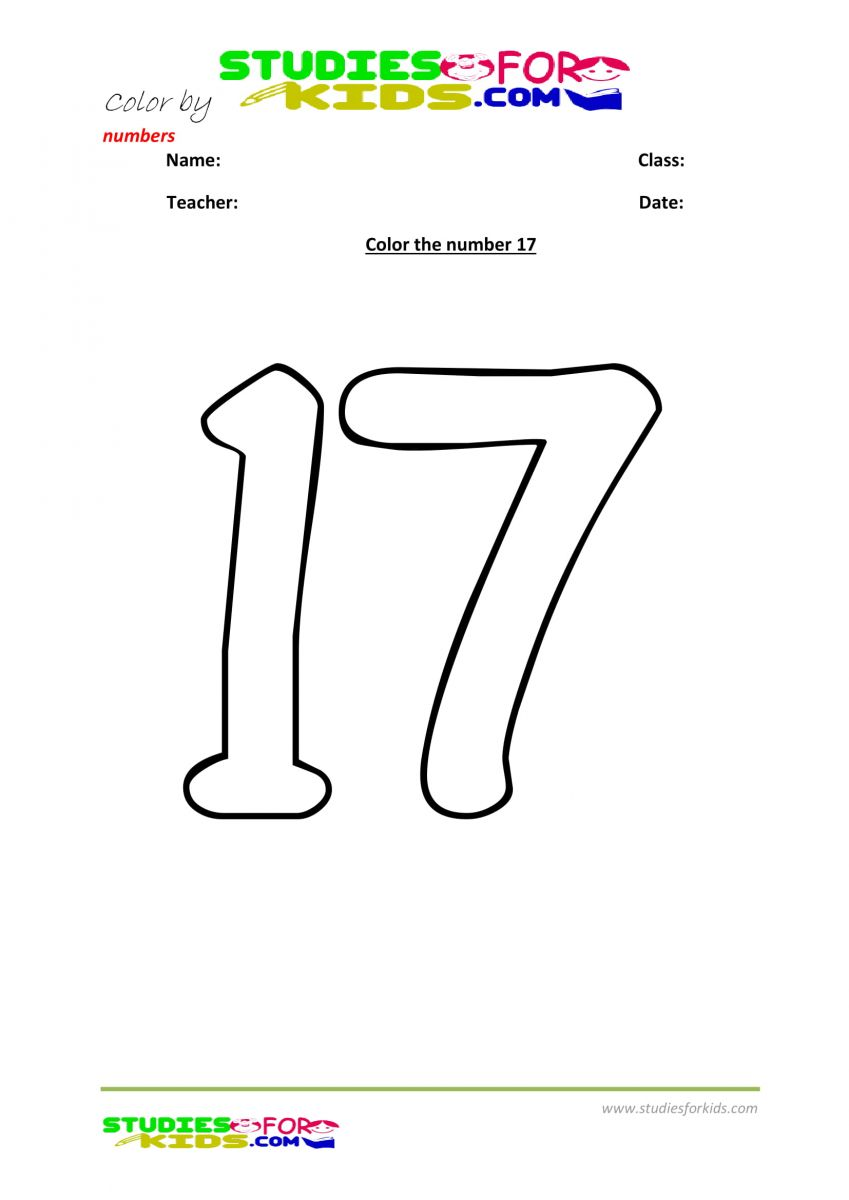 coloring by number -17