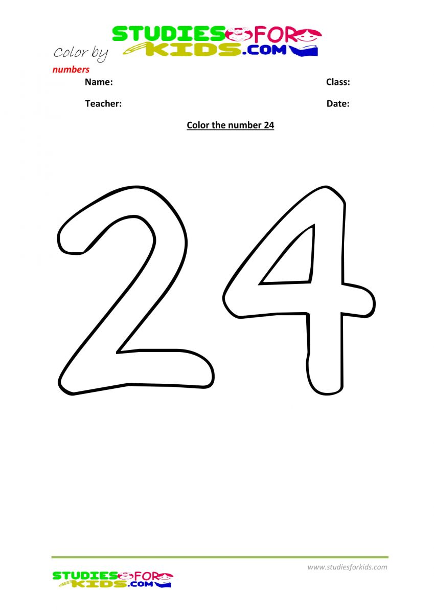 coloring the number -24