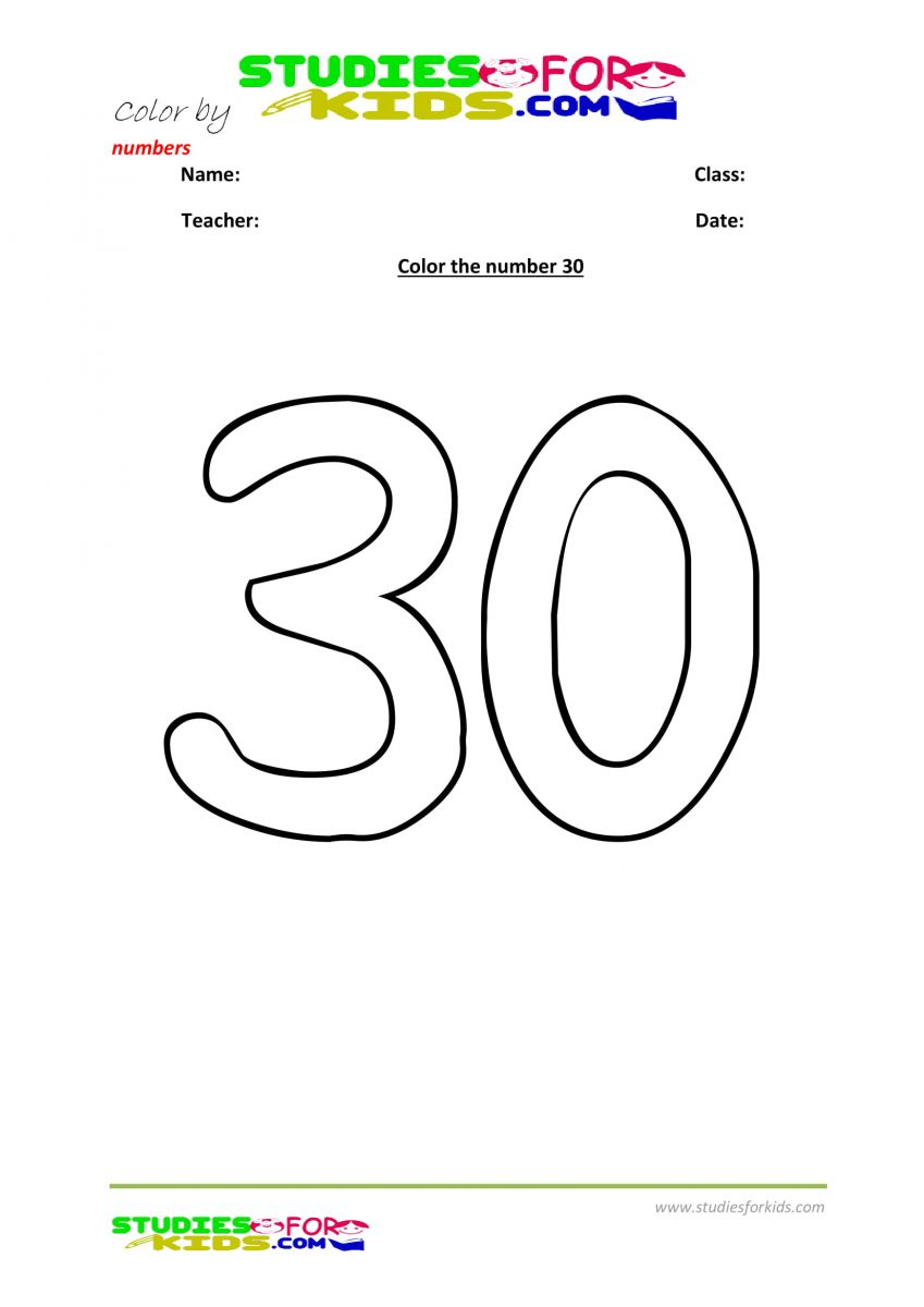 printables color by number-30