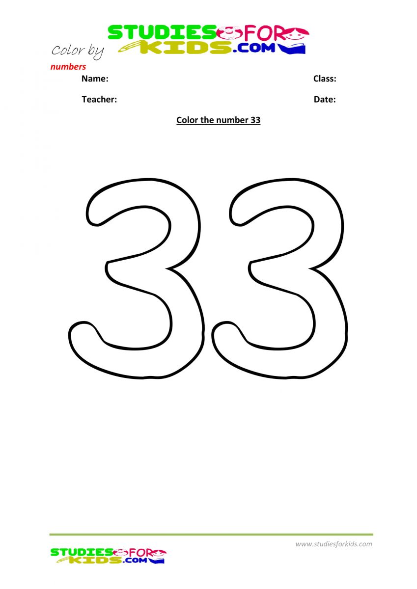 kids color by number- 33
