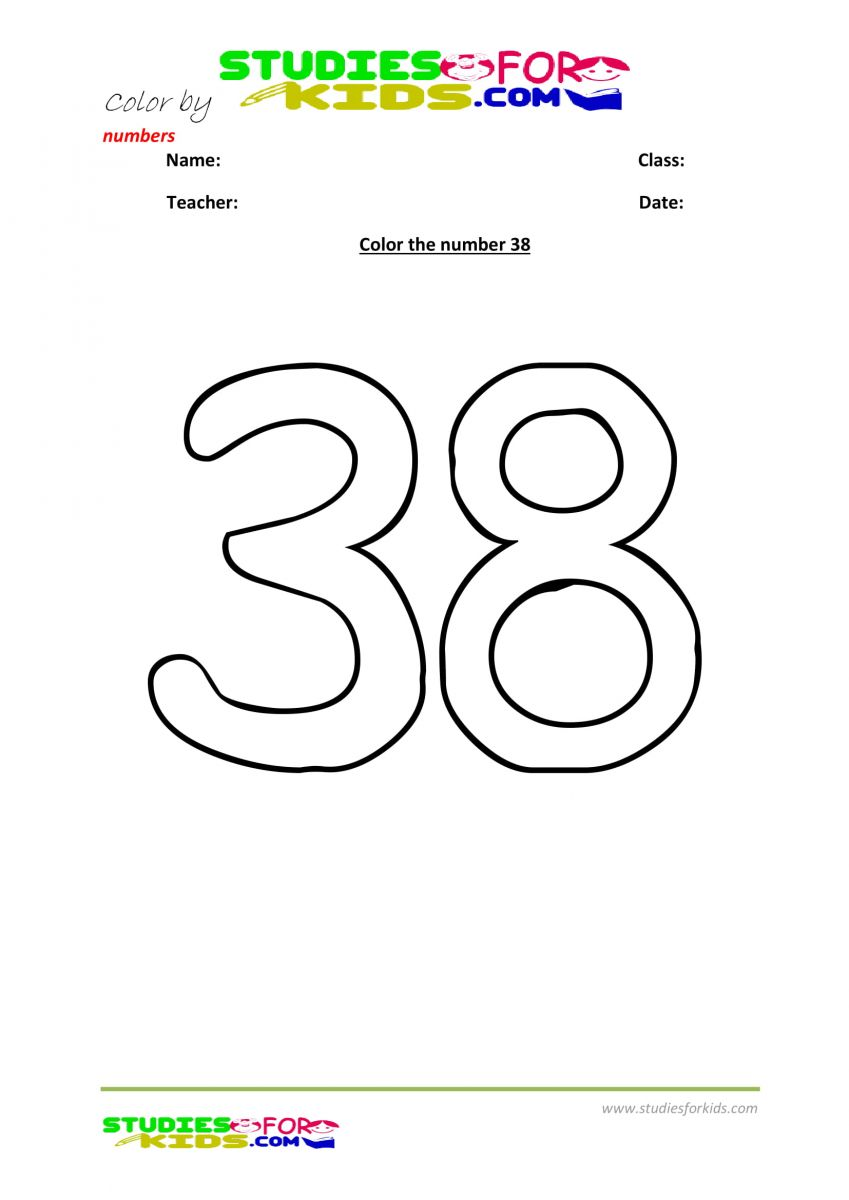 nusery color by number printables - 38