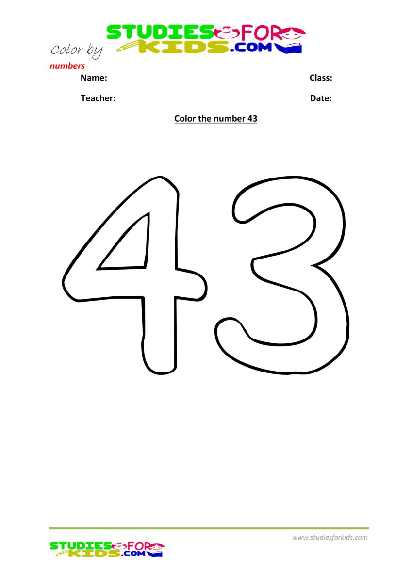 printables color by number worksheet -43