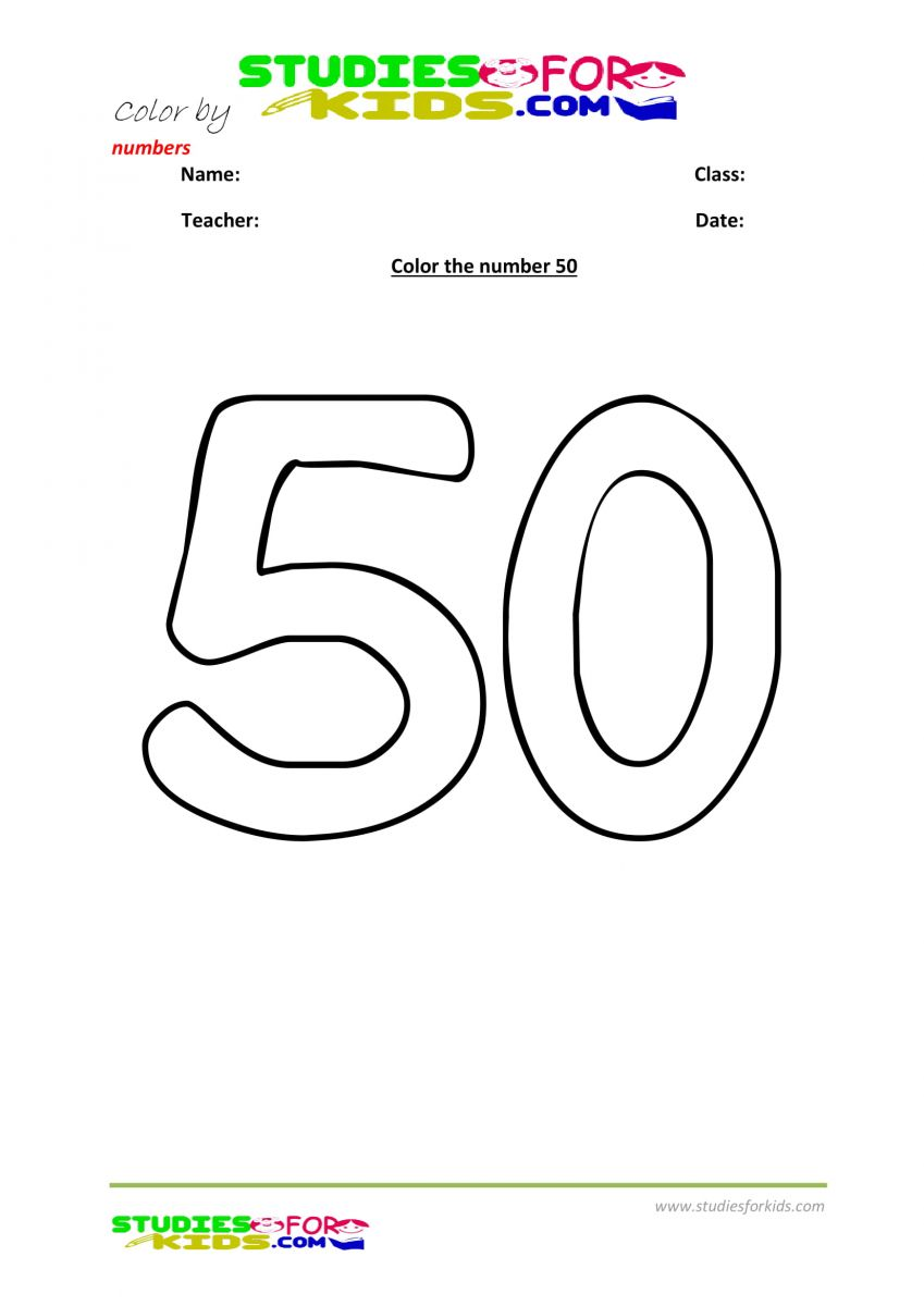 color by number worksheet -50
