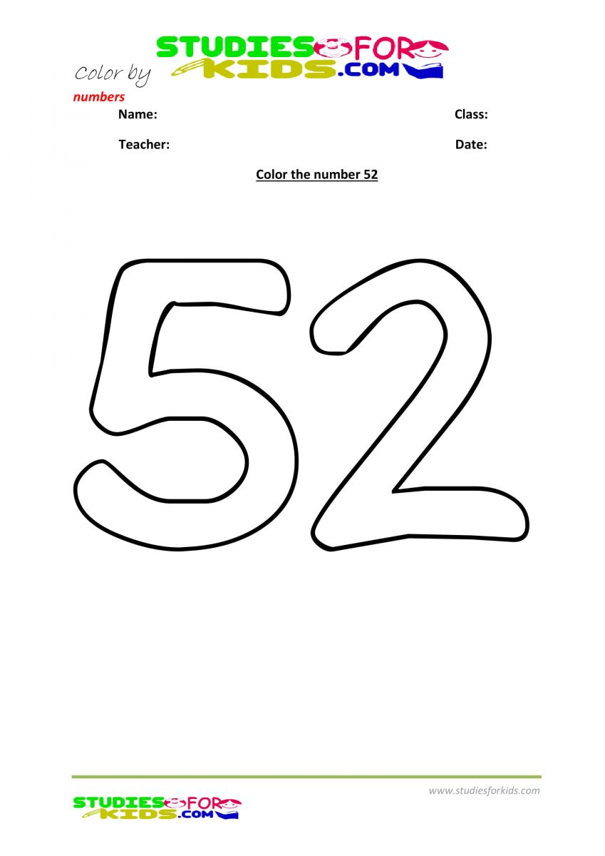 color by number worksheet -52