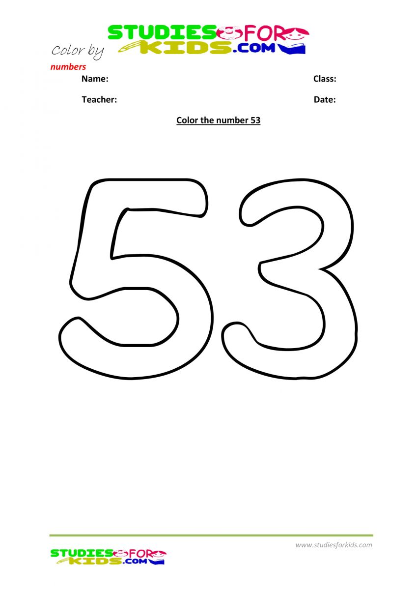 color by number worksheet -53