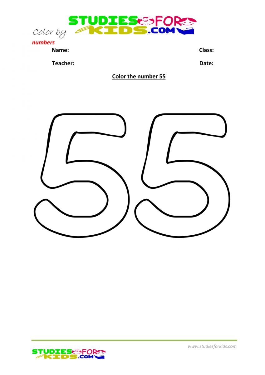color by number worksheet -55