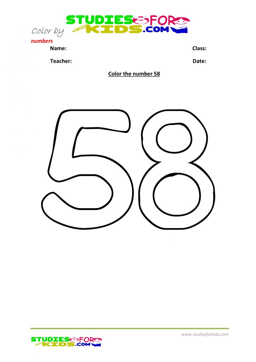color by number worksheet -58