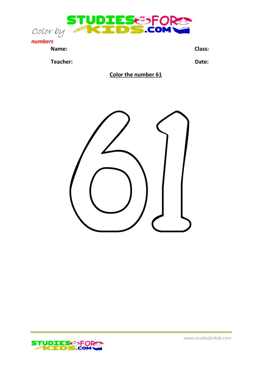 color by number worksheet -61