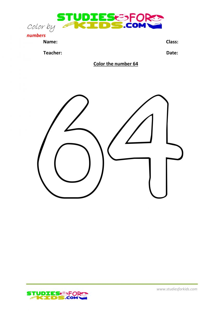 color by number worksheet -64
