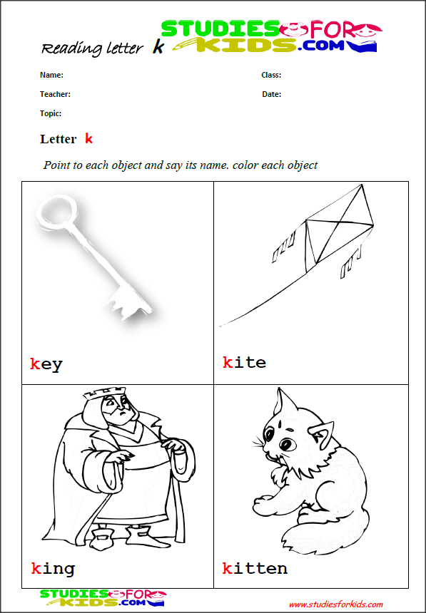 the letter k reading worksheets printable teachers worksheets for children